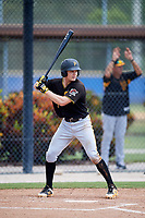 Pittsburgh Pirates catcher Arden Pabst (75) at bat during a Florida Instructional League game against the Toronto Blue Jays on September 20, 2018 at the Englebert Complex in Dunedin, Florida.  (Mike Janes/Four Seam Images)