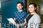 Eoin O'Callaghan, Ballymac, Michaela Brosnan, Ballyduff, students from Brookfield College, Tralee, who were delighted with their Leaving Certificate results on Wednesday morning.