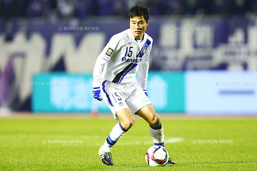 Yasuyuki Konno (Gamba),<br /> DECEMBER 5, 2015 - Football / Soccer : <br /> 2015 J.League Championship Final 2nd leg match<br /> between Sanfrecce Hiroshima - Gamba Osaka<br /> at Hiroshima Big Arch in Hiroshima, Japan.<br /> (Photo by Shingo Ito/AFLO SPORT)