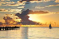 Palm Cove jetty at dawn.  Palm Cove, Cairns, Queensland, AUSTRALIA
