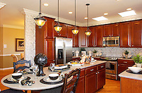 Custom designed luxury kitchen in a luxury style home in Naperville, IL built by Wiseman Hughes.