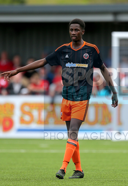 Jean Belehouan of Sheffield Utd during the pre season match at the Flamingo Land Stadium, Scarborough. Picture date 15th July 2017. Picture credit should read: Richard Sellers/Sportimage