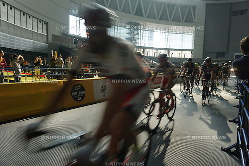 Riders from the Tour de France participate in the Saitama Criterium 2015 race on October 24, 2015 in Saitama, Japan. 2015 is the third year that the organisers of Le Tour de France have brought the race to Japan for a special one day criterium race.  (Photo Mark Eite/AFLO)