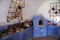 The kitchen of Fuerte de San Diego, Acapulco, Mexico. This 18th-century Spanish fort was built to protect Acapulco from Dutch and English buccaneers.