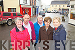 Traders from Church Street, Barrack Lane and Market Lane, Tralee, pictured on Wednesday, from left:  Anne ODonnell (Coisceim Natural Therapy Centre), Peter ODriscoll (John ODriscoll & Co Ltd), Juliana Murphy (Coisceim Natural Therapy Centre), Breda Lyons (Urbanwear), Sandra Rusk (Weardrobe).