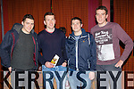 Looking for winners at the Dr Crokes race night in Scotts Hotel on Friday night were l-r: Brian Looney, Luke Quinn, Jamie Doolan, and Alan Kelly