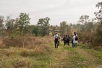 A group of biologists and amateurs are seen during the walk for bird watching at the National School of Higher Studies (ENES) in the municipality of Morelia, Michoacán. .<br /> (Photo: AdidJimenez / nortephoto.com)<br /> <br /> Un grupo de biólogos y aficionados son vistos durante la caminata para la observación de aves en la Escuela Nacional de Estudios Superiores (ENES) en el municipio de Morelia, Michoacán. .<br /> (Photo: AdidJimenez/nortephoto.com)
