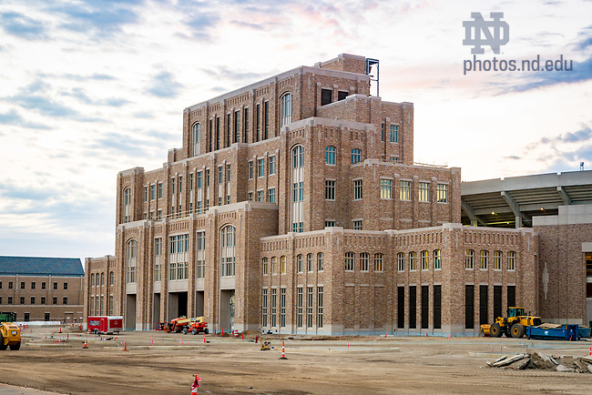 June 20, 2017; O'Neill Hall of Music nearing completion, June 2017 (Photo by Matt Cashore/University of Notre Dame)