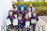 Kilcummin NS students at the Scríobh Leabhar competition held in the Tralee Education Centre on Monday. Front l to r: Ciara McCormac, Eamon O'Donoghue, Clíona Doolan and Daniel McGuire.<br /> L to r: Odhran O'Shea, Ella O'Connell and Aoife Doolan.<br /> Back l to r: Gillian Sheehan (Principal), Mike Murphy and Charlene O'Connor.