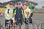 PALS; Pals  John Lynch (Tralee), Graham Kelliher(Banna) and Trevor Hegarty who took part in the fund raising for the Ballyheighue Rowing Club 50k Cycle from Ballyheigue on Saturday.