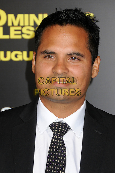 "Michael Pena.""30 Minutes or Less"" World Premiere held at Grauman's Chinese Theatre, Hollywood, California, USA..August 8th, 2011.headshot portrait white black.CAP/ADM/BP.©Byron Purvis/AdMedia/Capital Pictures."