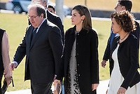 "Queen Letizia arrives to the closing of International Congress ""Woman and Disability"" at congress center ""Lienzo Norte"" in Avila, Spain. March 01, 2017. (ALTERPHOTOS/BorjaB.Hojas)"