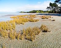 Farewell Spit, Golden Bay, South Island, New Zealand. Farewell Spit is a 75km long sand spit located in the Golden Bay area of South Island, New Zealand. An incredible variety of birds migrate to Farewell Spit, making it an extremely popular spot for bird watchers.