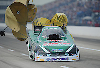 Apr. 29, 2012; Baytown, TX, USA: NHRA funny car driver John Force during the Spring Nationals at Royal Purple Raceway. Mandatory Credit: Mark J. Rebilas-