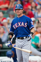 "Texas Rangers center fielder Josh Hamilton #32 comes to the plate during the MLB exhibition baseball game against the ""AAA"" Round Rock Express on April 2, 2012 at the Dell Diamond in Round Rock, Texas. The Rangers out-slugged the Express 10-8. (Andrew Woolley / Four Seam Images)."