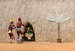 &Iacute;ndios Kalapalos tocando flautas uru&aacute; no Ritual Kuarup na Aldeia Aiha no Parque Ind&iacute;gena do Xingu | Kalapalo men playing uru&aacute; flutes in the Kuarup Ritual at Aiha Village in the Xingu Indigenous Park<br /> <br /> LOCAL: Quer&ecirc;ncia, Mato Grosso, Brasil <br /> DATE: 07/2009 <br /> &copy;Pal&ecirc; Zuppani