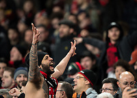 AC Milan fan during the UEFA Europa League round of 16 2nd leg match between Arsenal and AC Milan at the Emirates Stadium, London, England on 15 March 2018. Photo by Vince  Mignott / PRiME Media Images.