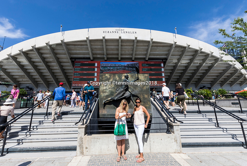 Paris, France, 27 May, 2018, Tennis, French Open, Roland Garros, court Suzanne Lenglen,<br /> Photo: Henk Koster/tennisimages.com