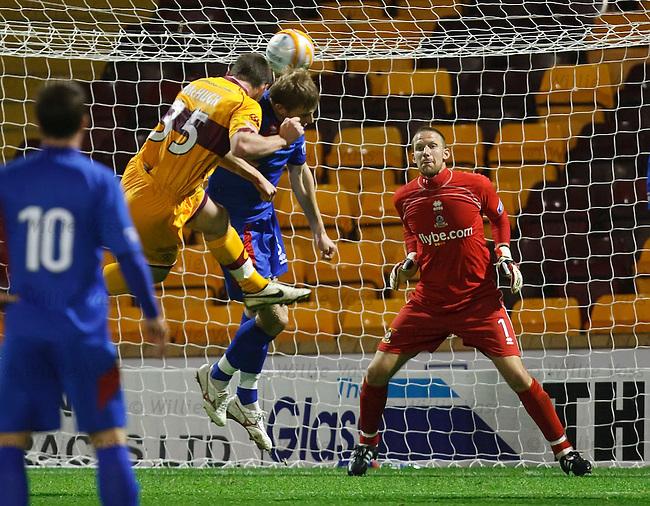 Robert McHugh scores past Caley keeper Ryan Esson