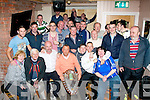 Richie Houlihan(seated centre)Kerins O'Rahilly's supporter and the owner of 'An Shebeen' bar,lower Rock St,Tralee who paid for 22 of his clientele to attend the County league division 1 final last Sunday between Austin Stacks and Kerins O'Rahilly's,at the strand rd venue,had the pleasure of hosting the winning team and management at his bar last Monday night.