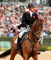 LEXINGTON, KY - April 30, 2017. #52 High Kingdom and Zara Tindall finish 3rd in the Rolex Three Day Event at the Kentucky Horse Park.  Lexington, Kentucky. (Photo by Candice Chavez/Eclipse Sportswire/Getty Images)