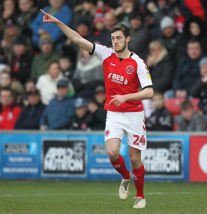 Fleetwood Town's Ashley Nadesan <br /> <br /> Photographer Mick Walker/CameraSport<br /> <br /> The EFL Sky Bet League One - Fleetwood Town v Luton Town - Saturday 16th February 2019 - Highbury Stadium - Fleetwood<br /> <br /> World Copyright © 2019 CameraSport. All rights reserved. 43 Linden Ave. Countesthorpe. Leicester. England. LE8 5PG - Tel: +44 (0) 116 277 4147 - admin@camerasport.com - www.camerasport.com