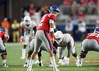 NWA Democrat-Gazette/CHARLIE KAIJO Ole Miss quarterback Matt Corral (2) prepares to take a snap during the second half of a football game, Saturday, September 7, 2019 at Vaught-Hemingway Stadium in Oxford, Miss.