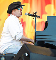 Jon Cleary playing at Jazz Fest 2011 in New Orleans on Day 1.