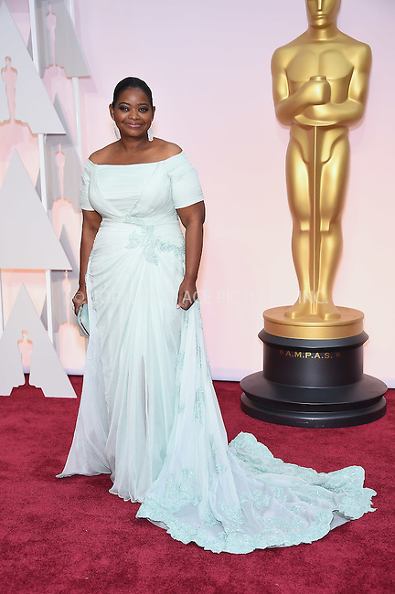 WWW.ACEPIXS.COM<br /> <br /> February 22 2015, Los Angeles Ca.<br /> <br /> Actress Octavia Spencer arriving at the 87 th Annual Academy Awards at the Hollywood and Highland center on February 22 2015 in Hollywood CA.<br /> <br /> <br /> Please byline: Z15/ACE Pictures<br /> <br /> ACE Pictures, Inc.<br /> www.acepixs.com<br /> Email: info@acepixs.com<br /> Tel: 646 769 0430