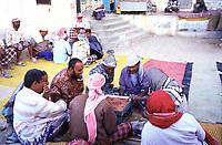 Yemen, Shiban men play domino