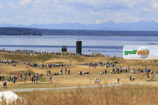 Huge crowds during Friday's Round 2 of the 2015 U.S. Open 115th National Championship held at Chambers Bay, Seattle, Washington, USA. 6/19/2015.<br /> Picture: Golffile | Eoin Clarke<br /> <br /> <br /> <br /> <br /> All photo usage must carry mandatory copyright credit (&copy; Golffile | Eoin Clarke)