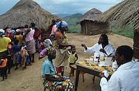 Distribuzione delle medicine prescritte dopo la visita medica