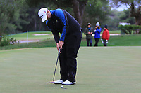 Jack Senior (ENG) on the 18th green during Round 4 of the Challenge Tour Grand Final 2019 at Club de Golf Alcanada, Port d'Alcúdia, Mallorca, Spain on Sunday 10th November 2019.<br /> Picture:  Thos Caffrey / Golffile<br /> <br /> All photo usage must carry mandatory copyright credit (© Golffile | Thos Caffrey)