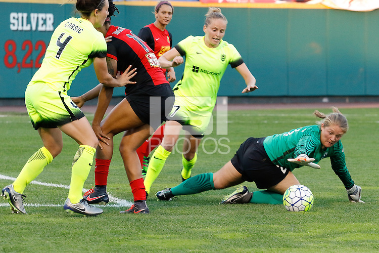 Rochester, NY - Saturday July 09, 2016: Andi Tostanoski during a regular season National Women's Soccer League (NWSL) match between the Western New York Flash and the Seattle Reign FC at Frontier Field.