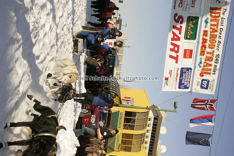 March 3, 2007  Hans Gatt during the Iditarod ceremonial start day in Anchorage