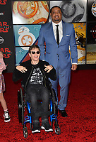 Micah Fowler &amp; Cedric Yarbrough at the world premiere for &quot;Star Wars: The Last Jedi&quot; at the Shrine Auditorium. Los Angeles, USA 09 December  2017<br /> Picture: Paul Smith/Featureflash/SilverHub 0208 004 5359 sales@silverhubmedia.com