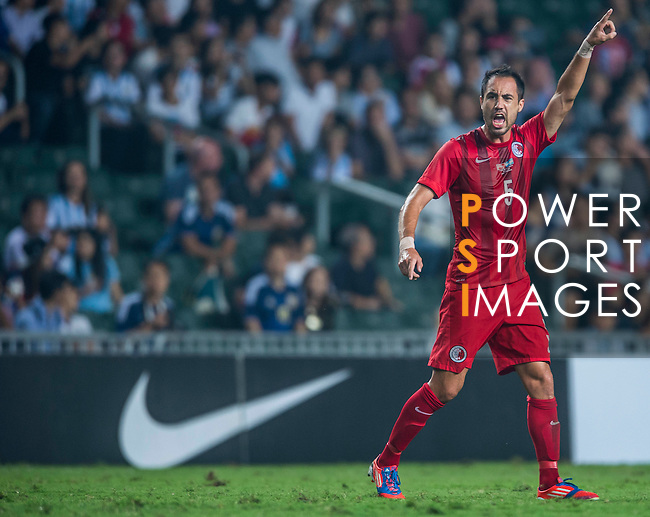 Andy Naegelein of Hong Kong in action during the HKFA Centennial Celebration Match between Hong Kong vs Argentina at the Hong Kong Stadium on 14th October 2014 in Hong Kong, China. Photo by Aitor Alcalde / Power Sport Images