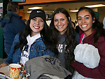 Ali, Jyllian and Lauren during the Reno Aces vs Nevada Wolf Pack baseball game at Greater Nevada Field in downtown Reno, Nevada on Tuesday, April 2, 2019.