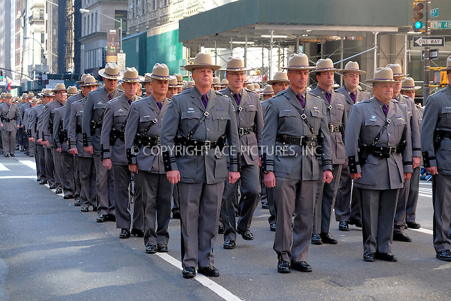 WWW.ACEPIXS.COM<br /> <br /> March 17 2016, New York City<br /> <br /> Atmosphere at the 255th annual St. Patricks Day Parade along Fifth Avenue in New York City on March 17, 2016 in New York City.<br /> <br /> By Line: Curtis Means/ACE Pictures<br /> <br /> <br /> ACE Pictures, Inc.<br /> tel: 646 769 0430<br /> Email: info@acepixs.com<br /> www.acepixs.com