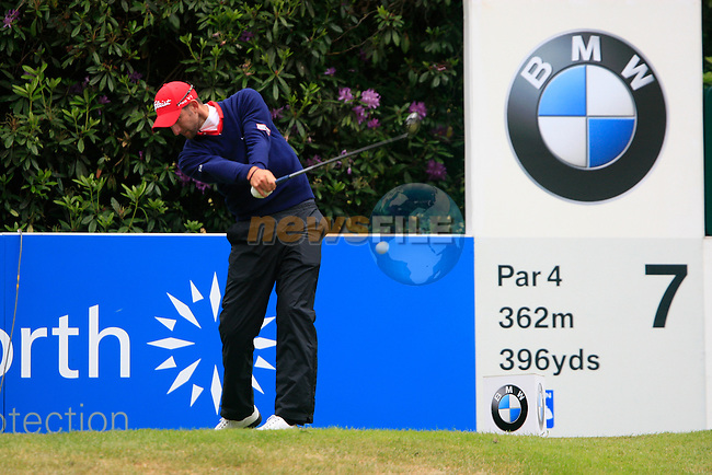 Seve Benson (ENG) tees of on the 7th tee during Day 3 of the BMW PGA Championship Championship at, Wentworth Club, Surrey, England, 28th May 2011. (Photo Eoin Clarke/Golffile 2011)