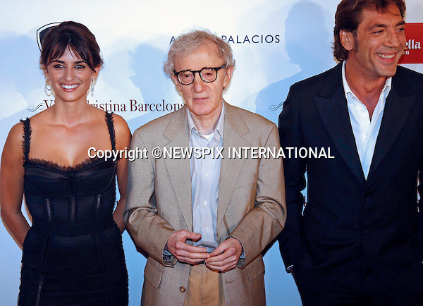 "PENLOPE CRUZ MARRIES JAVIER BARDEM.It has been confirmed that the couple have tied the knot in a private ceremony in the Bahamas last week...PENELOPE CRUZ, WOODY ALLEN AND JAVIER BARDEM.attend the premiere of Vicky Cristina Barcelona, Barcelona _20/09/2008.Mandatory Credit Photo: ©NEWSPIX INTERNATIONAL..**ALL FEES PAYABLE TO: ""NEWSPIX INTERNATIONAL""**..IMMEDIATE CONFIRMATION OF USAGE REQUIRED:.Newspix International, 31 Chinnery Hill, Bishop's Stortford, ENGLAND CM23 3PS.Tel:+441279 324672  ; Fax: +441279656877.Mobile:  07775681153.e-mail: info@newspixinternational.co.uk"