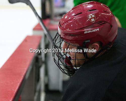 Kevin Guiltinan (Harvard - 6) - The Harvard University Crimson practiced on Friday, October 22, 2013, at Bright-Landry Hockey Center in Cambridge, Massachusetts.