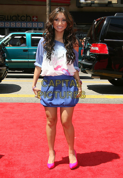 """BRENDA SONG.""""G-Force"""" World Premiere held at the El Capitan Theatre, Hollywood, California, USA..July 19th, 2009.full length white purple print top skirt off the shoulder pink shoes blue .CAP/ADM/MJ.©Michael Jade/AdMedia/Capital Pictures."""