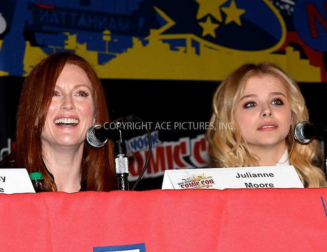 WWW.ACEPIXS.COM....October 13 2012, New York City....Actresses Julianne Moore and Chloe Grace Moretz at the 2012 New York Comic Con at the Javits Center on October 13, 2012 in New York City....By Line: Nancy Rivera/ACE Pictures......ACE Pictures, Inc...tel: 646 769 0430..Email: info@acepixs.com..www.acepixs.com
