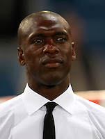 Calcio, Serie A: Roma vs Milan. Roma, stadio Olimpico, 25 aprile 2014.<br /> AC Milan coach Clarence Seedorf, of the Netherlands, looks on prior to the start of the Italian Serie A football match between AS Roma and AC Milan at Rome's Olympic stadium, 25 April 2014.<br /> UPDATE IMAGES PRESS/Isabella Bonotto