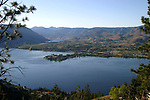 A view of Lake Chelan from Bear Mountain.