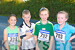 Eva Looney, Patrick Warren, Sinead Warren and Niamh Dalton Gneeveguilla who competed in the Gneeveguilla Golden Mile race in on Friday evening.