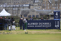 Brandon Stone (RSA) on the 4th tee during round 4 of the Alfred Dunhill Links Championship at Old Course St. Andrew's, Fife, Scotland. 07/10/2018.<br /> Picture Thos Caffrey / Golffile.ie<br /> <br /> All photo usage must carry mandatory copyright credit (&copy; Golffile | Thos Caffrey)