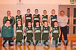 UNDER 16: St Brendans under 16 basketball team, winners of the Kerry Area Cup Final at Mounthawk Gym on Sunday. Team: Ian Carey, Owen Quigley, David Mannix, Joseph O'Callaghan, Liam O'Sullivan, Diarmuid Herlihy, David O'Donnell, Declan Doody, Jamie Lowham, Greg Barry, Donal Moynihan and Coaches Stephen O'Callaghan and Charles O'Sullivan..