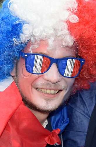 03.07.2016. St Denis, Paris, France. French fans in front of the stadium prior to the UEFA EURO 2016 quarter final soccer match between France and Iceland at the Stade de France in Saint-Denis, France, 03 July 2016.